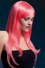 Sienna Wig Pastel Coral Long Feathered New Adult Halloween Cristmas Womens Fever