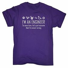 Im An Engineer To Save Time Never Wrong T-SHIRT Geek Math Funny Gift birthday