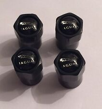 4 Jaguar Black Metal Dust Caps Fitted with Rubber Seal - Best on the Market