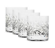 Double Old Fashioned Hand Cut Crystal Liquor Scotch Whiskey Spirit Glasses Set