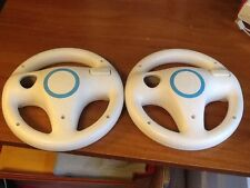 Lot of Two Mario Kart Racing Wheels for Nintendo Wii + Wii U Official OEM