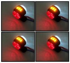 4 X 12V SIDE AMBER RED WHITE MARKER LIGHTS INDICATOR LED TRUCK TRAILER CHASSIS