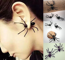 1Pcs Fashion Womens Halloween Black Spider Charm Ear Stud Earrings Jewelry