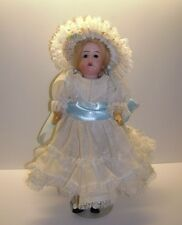 """ANTIQUE ESTATE  FRENCH BISQUE DOLL 11"""" GERMAN ?   GLASS EYES NICE LOOK"""