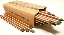 "CARBON ARC RODS for 35mm FILM PROJECTION - 1 BOX of  10mm x 9"" NATIONAL NEGATIVE"