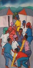Haitian Art Maurice Guerre Oil Painting Haiti Artist Listed Signed 01427
