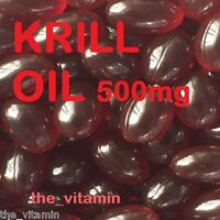 "Superba RED KRILL OIL 500mg   360 Capsules      ""The Vitamin"" FREE P&P       (L)"