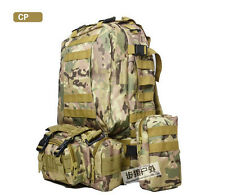 Large 55L Outdoor Military Rucksacks Tactical Molle Backpack Camping Hiking Bags