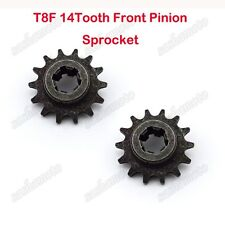 T8F 14T Front Pinion Gear Box Sprocket For 47 49cc Mini Dirt Pocket Bike Scooter
