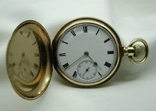 10ct Gold Filled Waltham Traveler Full Hunter Pocket Watch
