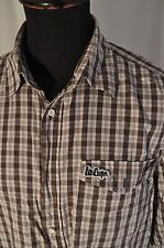 Lee Cooper grey check shirt size large mod casual