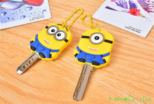 Lot 2 Despicable Me 2 Minion Stitch Key Cover Chain Cap Keyring Gift Favor NN*