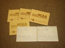Lot of (5) Different NCAA Official Basketball Scorebooks from Meadowlands Arena