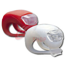 MOUNTAIN BIKE BICYCLE FRONT REAR LIGHTS SET PUSH CYCLE LIGHT CLIP RED&WHITE LED