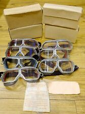 Authentic Red Army Soviet Russian Pilot,Tankman aviation goggles glasses WW2