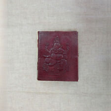 Ganesh Embossed on MEDIUM Leather Bound Handmade Paper Journal Diary Note Book