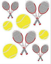 TENNIS wall stickers 8 vinyl decals sports teen room decor racquets balls racket