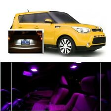For Kia Soul 2014-2016 Pink LED Interior Kit + Xenon White License Light LED