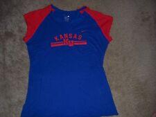 Womens NIKE TEAM KANSAS KU Jayhawks Shirt Size Medium 8-10