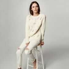NWT Club Monaco Beige Rydel Sweater Size Small $ 250