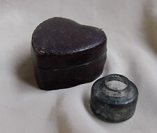 HEART SHAPED TRAVELLING INKWELL BOTTLE - Replacement glass ink bottles made