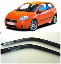 For Fiat Grande Punto 3d 2005-2009 Window Visors Side Rain Guard Vent Deflectors