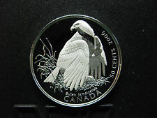 2000 Canada's Birds of Prey - Canada Silver 50 Cent Coin - Red-tailed Hawk