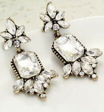 Hot Woman Fashion Jewelry Crystal Rhinestone Ear Drop Dangle Stud Earrings 824