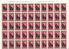 Ruanda**MONKEYS-GORILLA-SHEET 100 vals-Singe-Affe-Aap-Animals-Mammals-1985-MNH