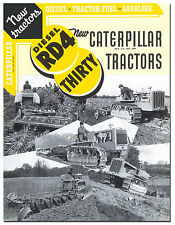 Caterpillar RD4 And Thirty Tractor Book 1936