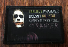 The Joker Morale Patch STRANGE Tactical Military USA Hook Badge Army Flag