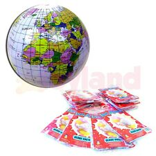 12 x INFLATABLE GLOBE BALLS SCHOOL SUMMER FETE FAIR PRIZE TOYS PARTY BAG FILLERS