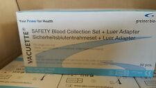 VACUETTE Safety Blood Collection Sets, Greiner Bio-One REF # 450096 (50 PCS)