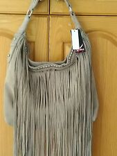 Designer Bag purse Sondra Roberts Suede Leather Hobo Fringe New read description