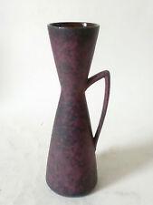 60s Carstens Tönnieshof Keramik Vase west german ceramic rare purple glaze !