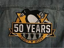 PITTSBURGH PENGUINS JACKET PATCH 50TH ANNIVERSARY 4X STANLEY CUP FINAL CHAMPIONS