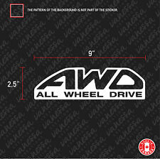 2X AWD ALL WHEEL DRIVE sticker funny vinyl decal  white
