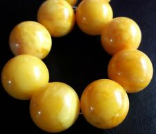 XL 23mm-60gr for CHILD PREMIUM MODIFIED AMBER ROUND BEAD BRACELET f.small HAND