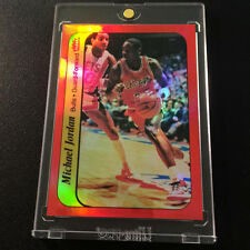 1986 MICHAEL JORDAN FLEER STICKER CUSTOM RED REFRACTOR RP #8 RC 1ST ONE # 1/23
