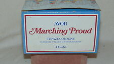 Vintage Avon Marching Proud Topaze Cologne In Box