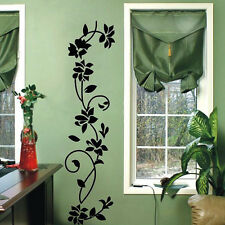 Hot Wall Stickers Black Flower Vine Vinyl Art Decal Mural Removable Home Decor