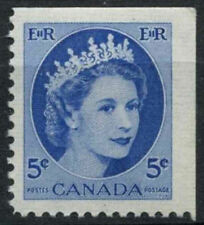 Canada 1954-62 SG#467, 5c QEII Definitive MNH Top Right Imperf #D6952