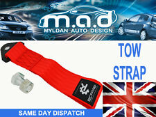 RED TOW STRAP EYE LOOP 280MM LONG JAP JDM EURO TRACK RALLY DRIFT RACING