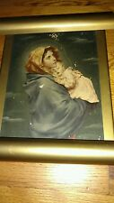 VIRGIN MARY Baby Jesus LIGHT UP WALL PICTURE FRAME RELIGIOUS CHRISTIAN VINTAGE