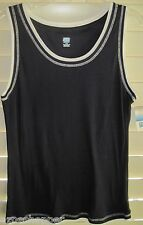SJB XL Sleeveless COTTON Active Wear TANK Navy with white trim X LARGE ~ $16 NWT