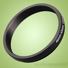 46mm to 43mm 46-43 46-43mm 46mm-43mm Stepping Step Down Filter Ring Adapter