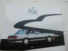 Volkswagen VW 1991 FOX Deluxe Dealer SALES BROCHURE
