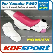 KDF - PW50 Plastics Fenders + Tank (White) + Seat (Pink) For Yamaha PW50 PY50 Pe