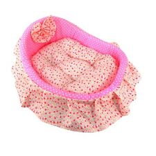 Pink Pet Supply Dog Cat Sleeping Bed Soft Cozy Nest Plush Cushion Pillow L Size