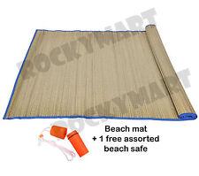 """33 x 60"""" Straw Beach mat w/free 4.5"""" necklace beach safe"""